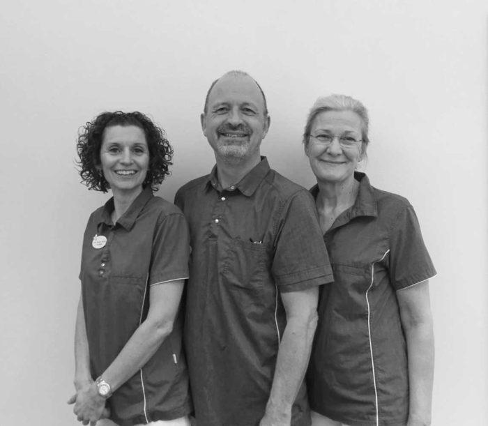 Klinikejere Lone Stouby Dencker, Lars Enevoldsen og Birgitte Leth-Møller.